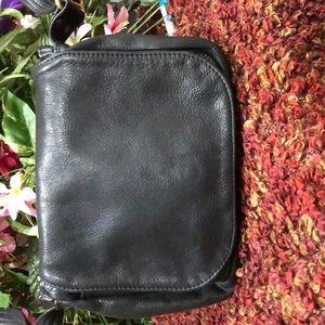 Handbags - Soft black leather crossbody